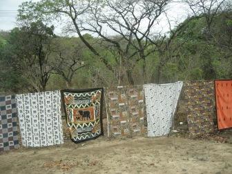 Textiles on a clothesline