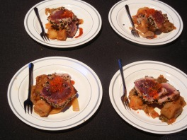 Barbados Food, Wine, and Rum Festival - lamb dish at Ambrosia event.