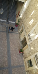 Courtyard below Paris Airbnb apartment