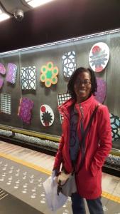 Belgian Metro station art