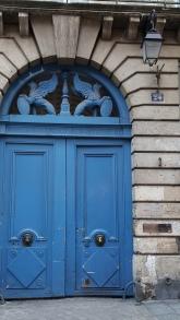 Blue door in Le Marais