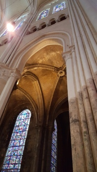 Chartres Cathedral interior - grime vs. clean