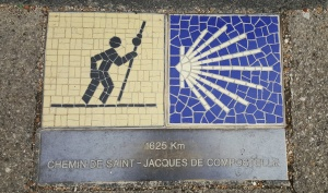Chemin de Saint-Jacques plaque