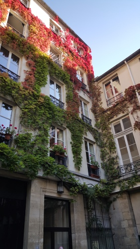 Buildings around a courtyard in Marais