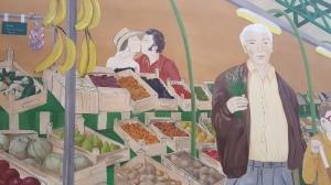Market mural in Marais