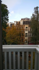 View from Amsterdam apartment