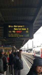 Amsterdam train platform
