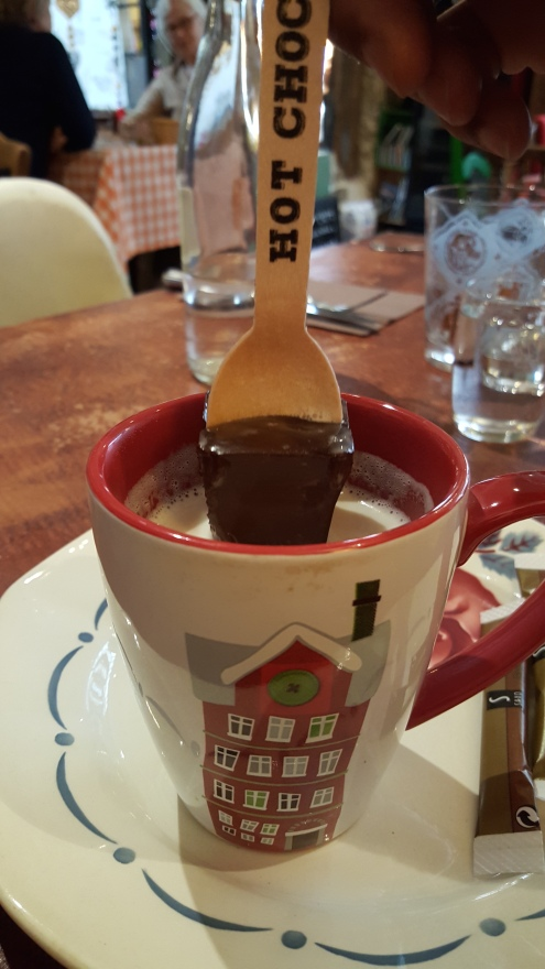 chocolat chaud - chocolate on a stick - Chartres