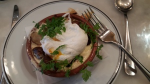 Le Mazenay - wild mushrooms and poached egg