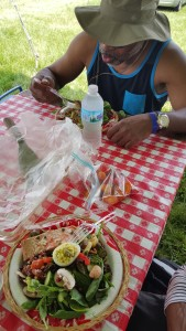 Picnic fare at Nowhere Else festival 2016