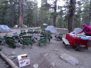 First morning 2 - backpackers camp - Yosemite