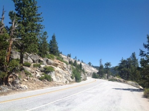Priest Grade portion of CA Route 120 - Yosemite