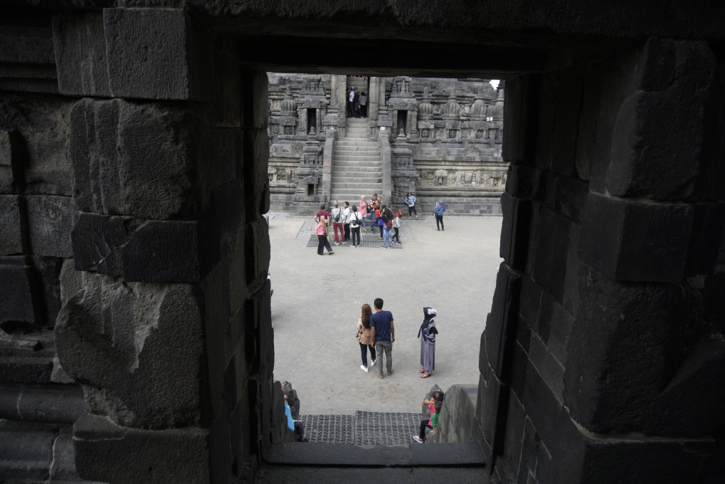 Prambanan Temple from staircase